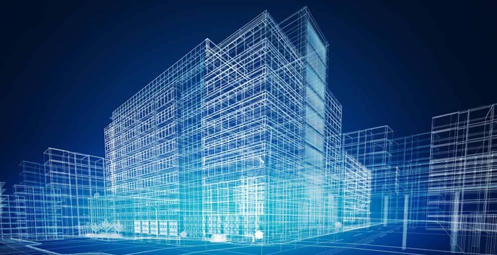 edifici wireframe