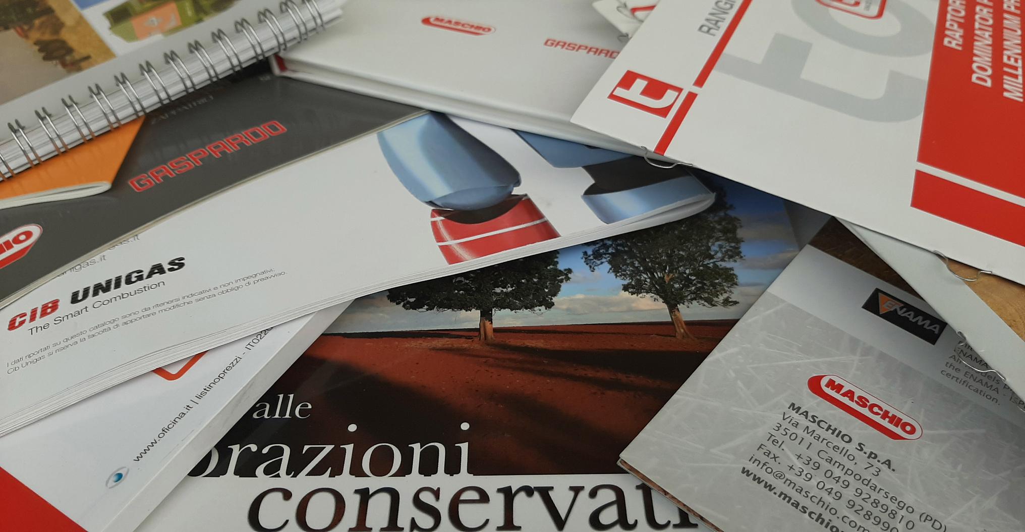 Cataloghi depliant Padova Vicenza-Rovigo Venezia Oficina Snc Padova