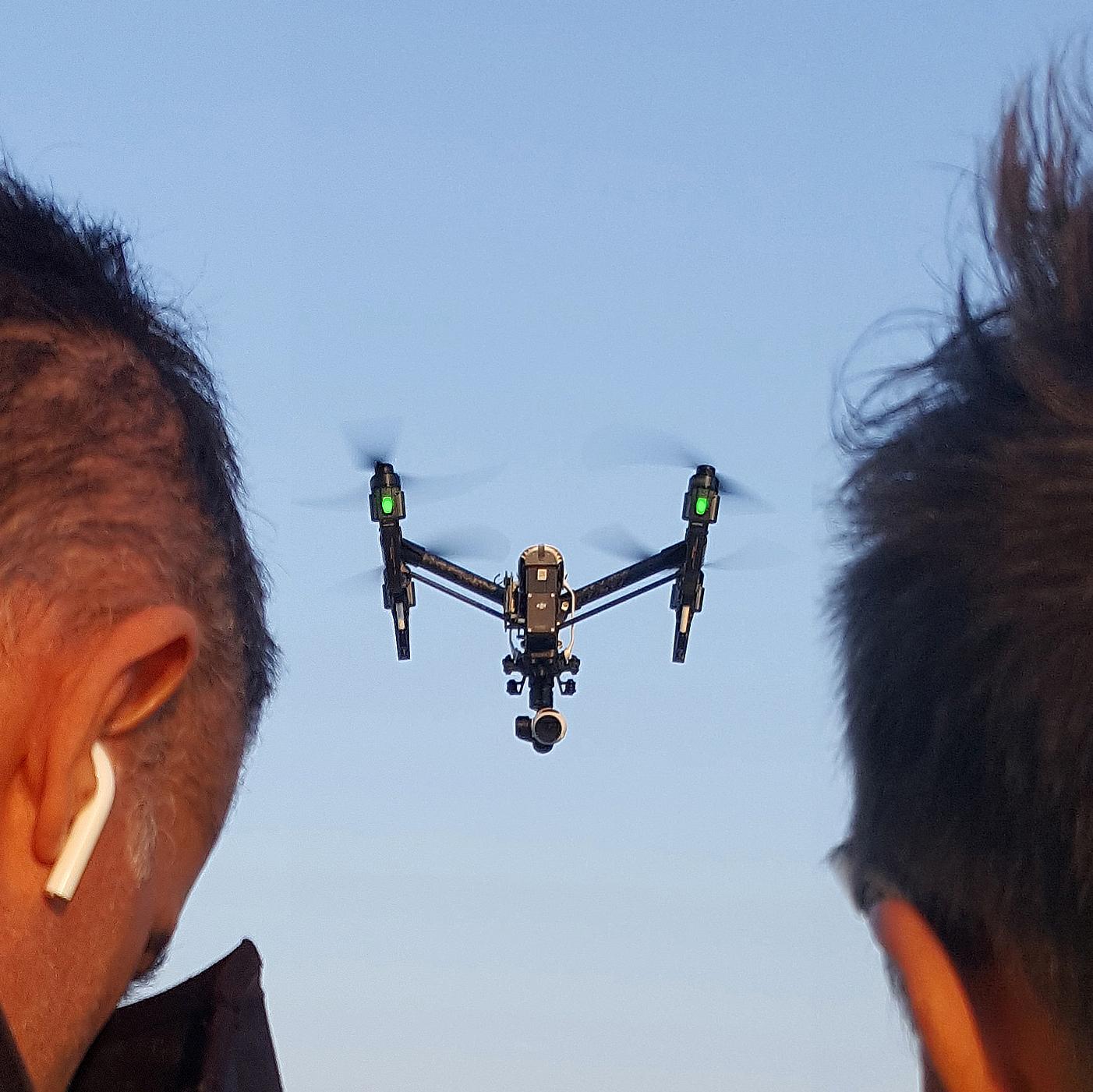 Drone nelle dirette streaming Oficina Padova